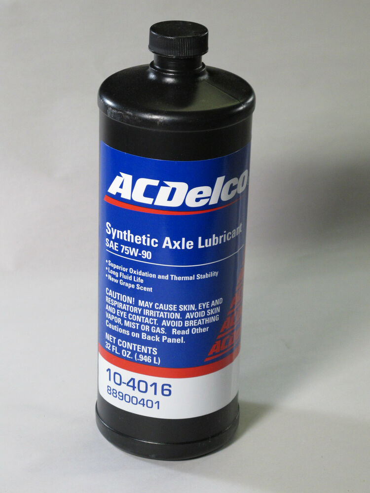 acdelco 10 4016 sae 75w 90 synthetic axle lubricant 32. Black Bedroom Furniture Sets. Home Design Ideas