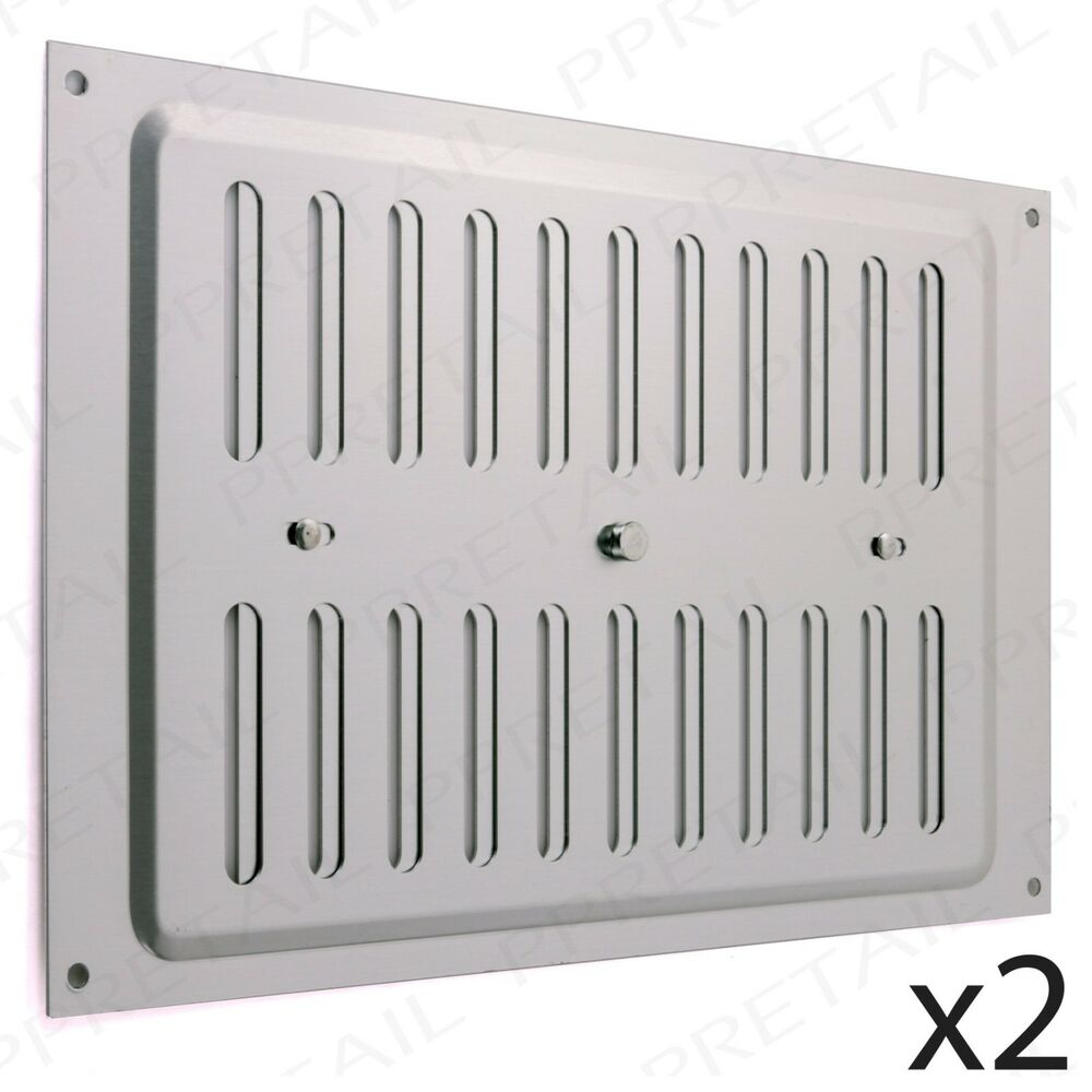 2 X Adjustable Open Close Vents 9 Quot X 6 Quot Metal Aluminium