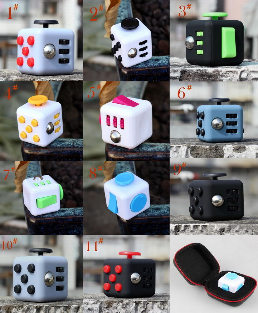 Stress Relief Toys For Adults : Attention training toys fidget cube adult stress