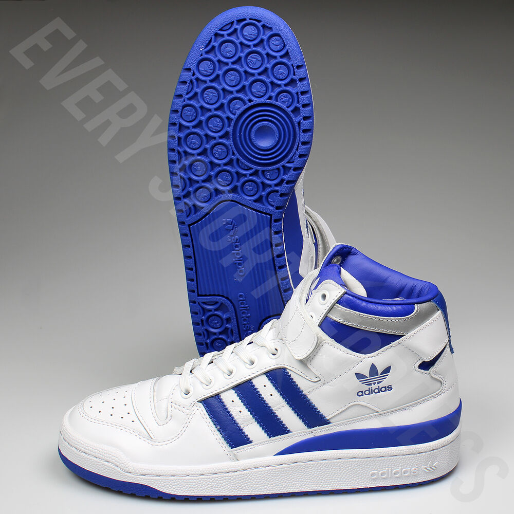 hot sale online c4a5f 3c919 ... Metallic Silver Pack Adidas Forum Mid Refined Shoes F37830 -  WhiteRoyalSilver (NEW) Lists ...