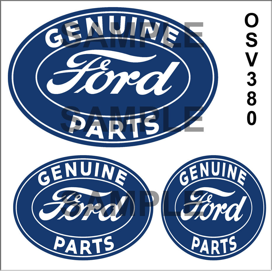 Ford Service Decals : Ford parts peel stick garage building diorama sign
