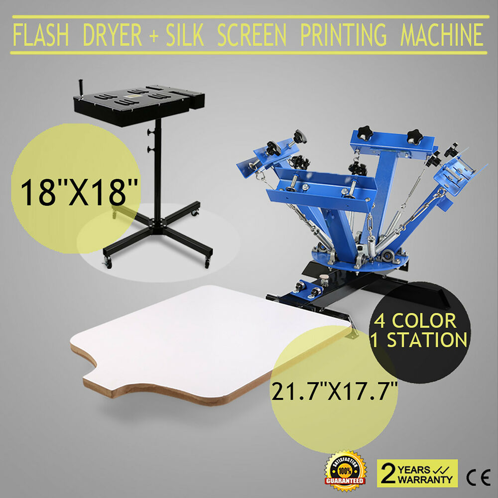 4 Color 1 Station Silk Screen Printing Machine Amp 18 Quot X 18