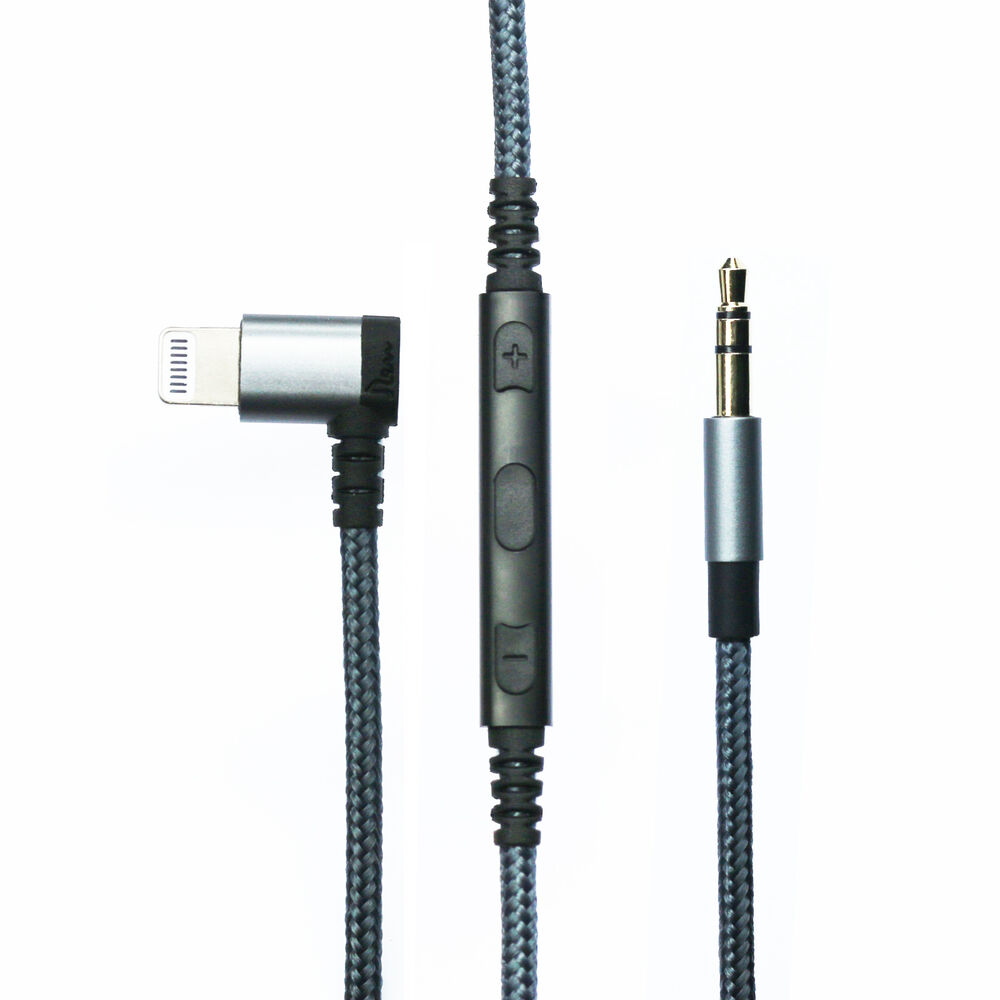 lightning to jack aux cable mic volume for iphone 7. Black Bedroom Furniture Sets. Home Design Ideas