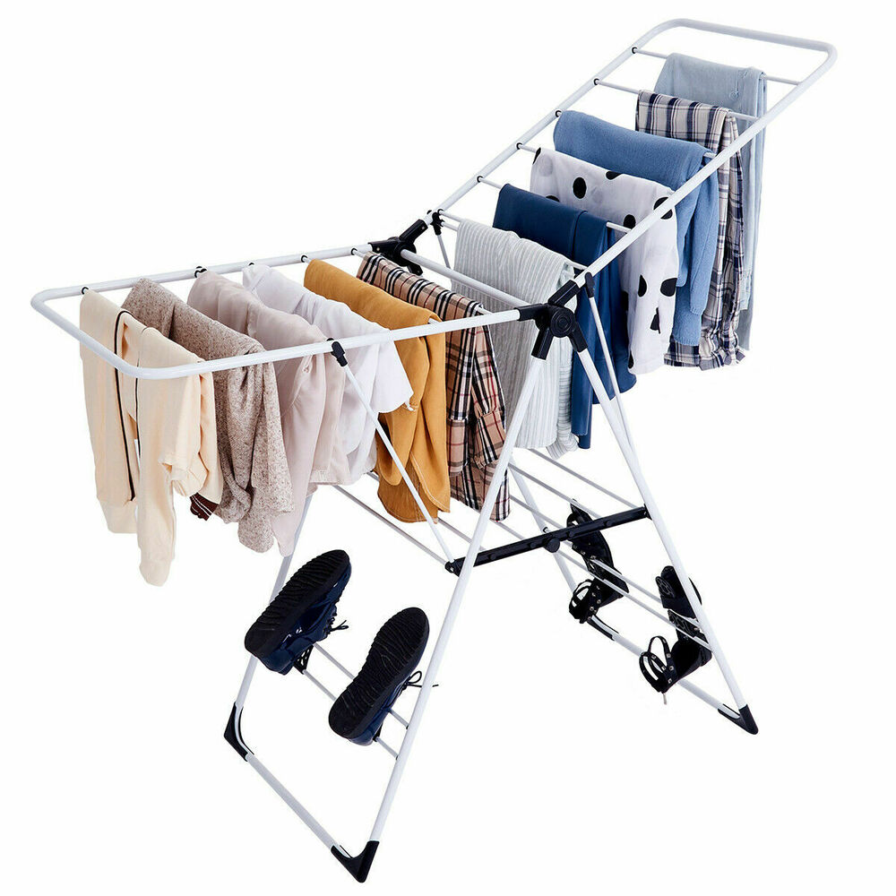 Laundry Clothes Storage Drying Rack Portable Folding Dryer