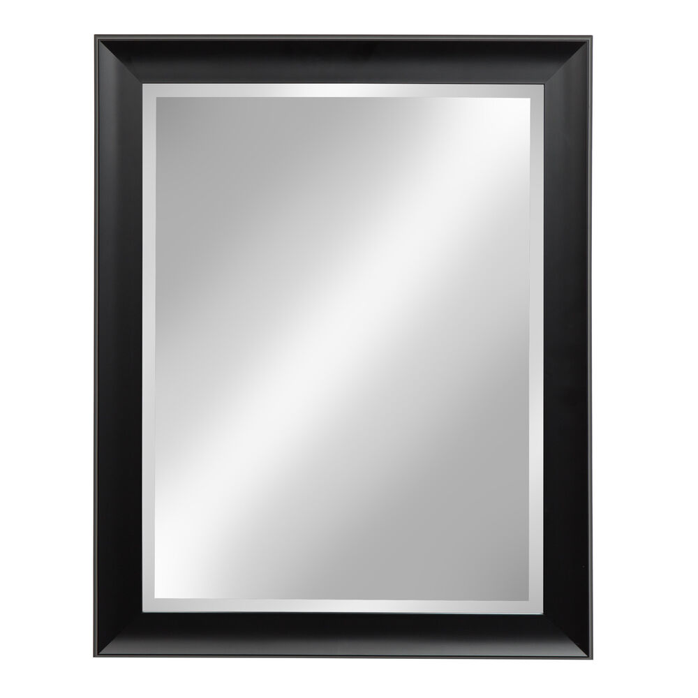 Designovation Scoop Black Framed Wall Vanity Beveled Mirror Ebay
