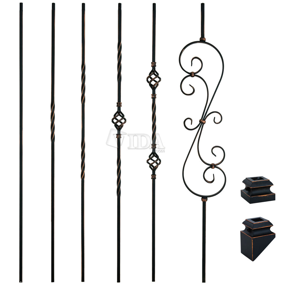 Oil Rubbed Copper Iron Balusters Spindles Metal Stair