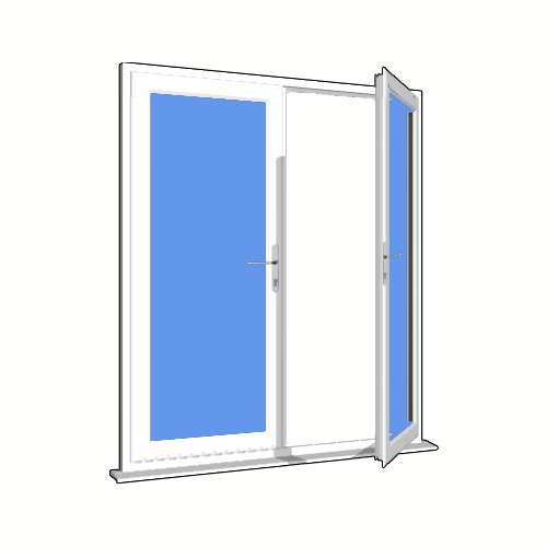 white upvc french doors white ebay
