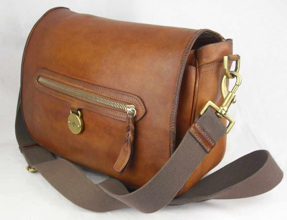 Details about Vintage MULBERRY SOMERSET Designer Shoulder CrossBody Bag  Chestnut Brown Leather 443a5d7de341e