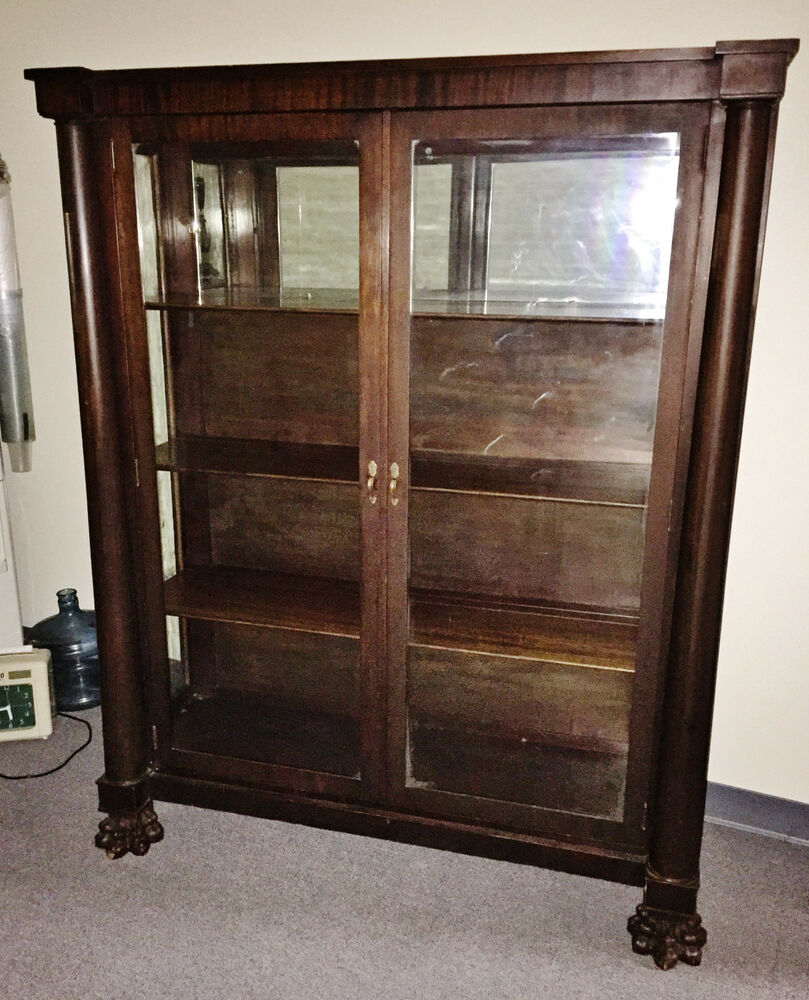 Antique Solid Mahogany 5 Claw Lion S Foot China Cabinet