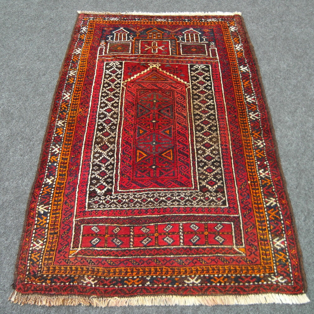 orient teppich alt 137 x 90 cm belutsch afghan rot gebetsteppich old carpet rug ebay. Black Bedroom Furniture Sets. Home Design Ideas