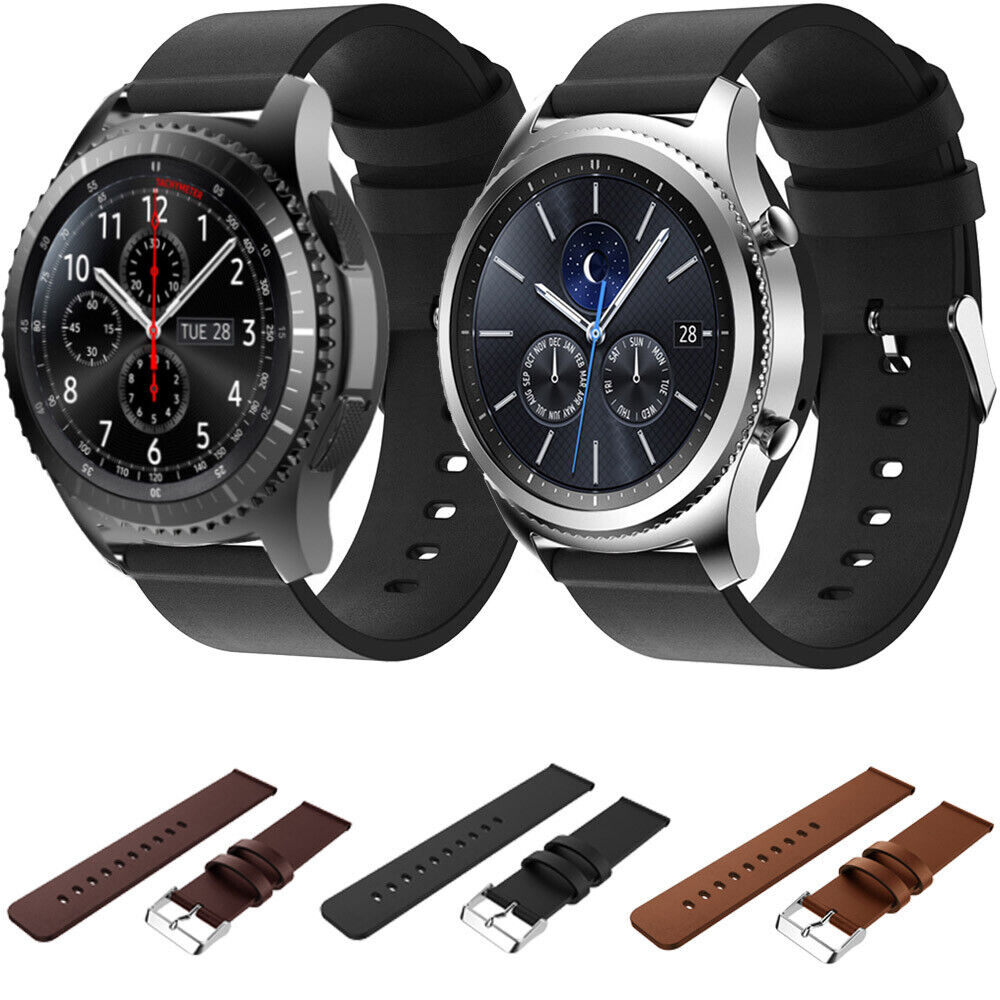 genuine leather smart strap band suit for watch samsung gear s3 classic frontier ebay