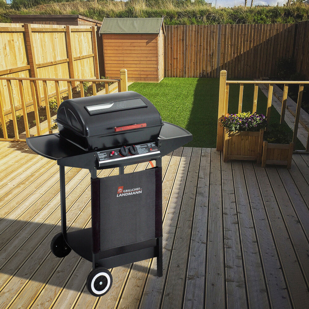 landmann grill chef dual burner gas bbq ebay. Black Bedroom Furniture Sets. Home Design Ideas