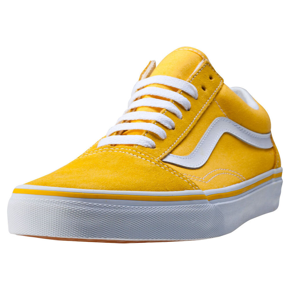 vans old skool mens trainers yellow new shoes ebay. Black Bedroom Furniture Sets. Home Design Ideas