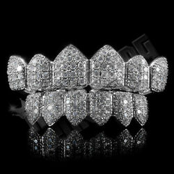 Kyпить 18K White Gold Bling Out Iced Custom GRILLZ Teeth Mouth Caps Top Bottom Grills на еВаy.соm