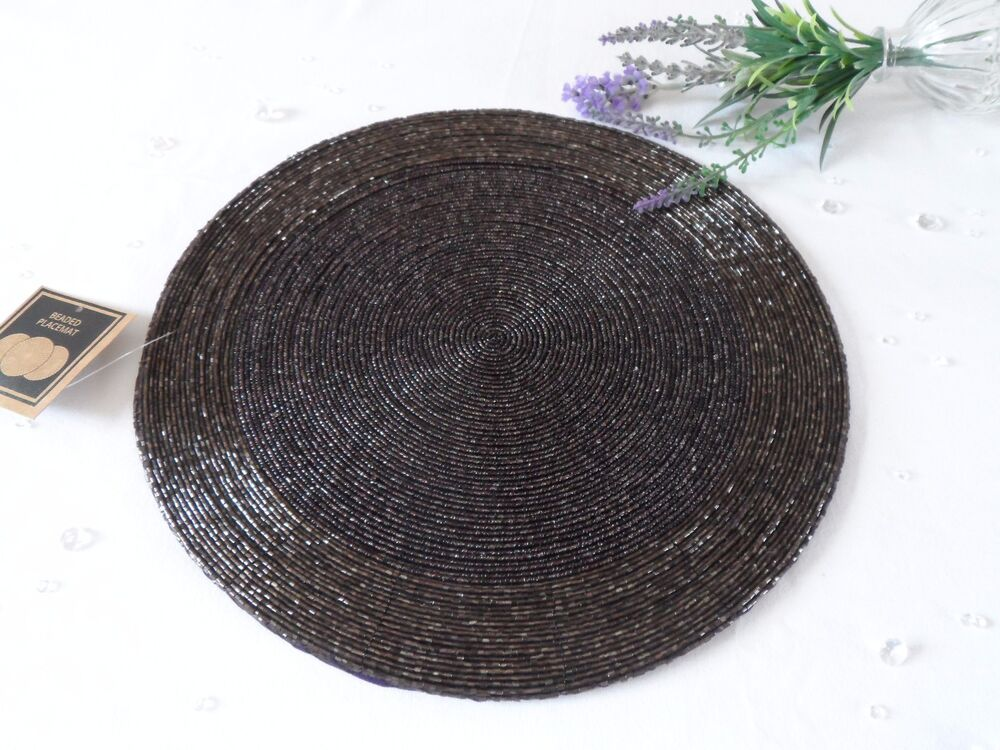 Round Woven Fabric Placemats Table Setting Place Mats Dining Room