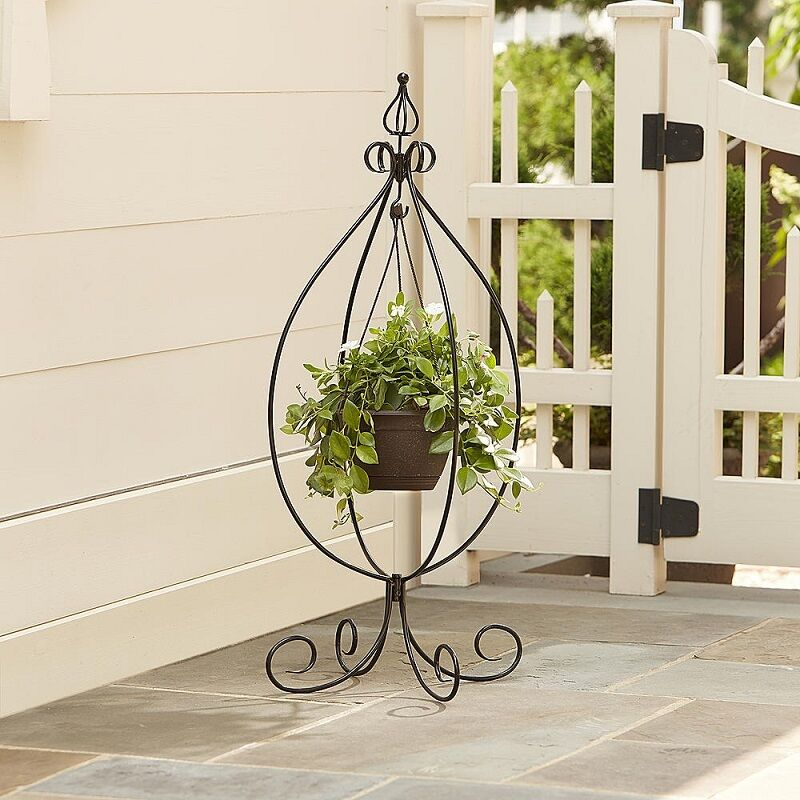 Plant Stand Hanging Pot Garden Decor Indoor Outdoor Patio ... on Hanging Plants Stand  id=39366