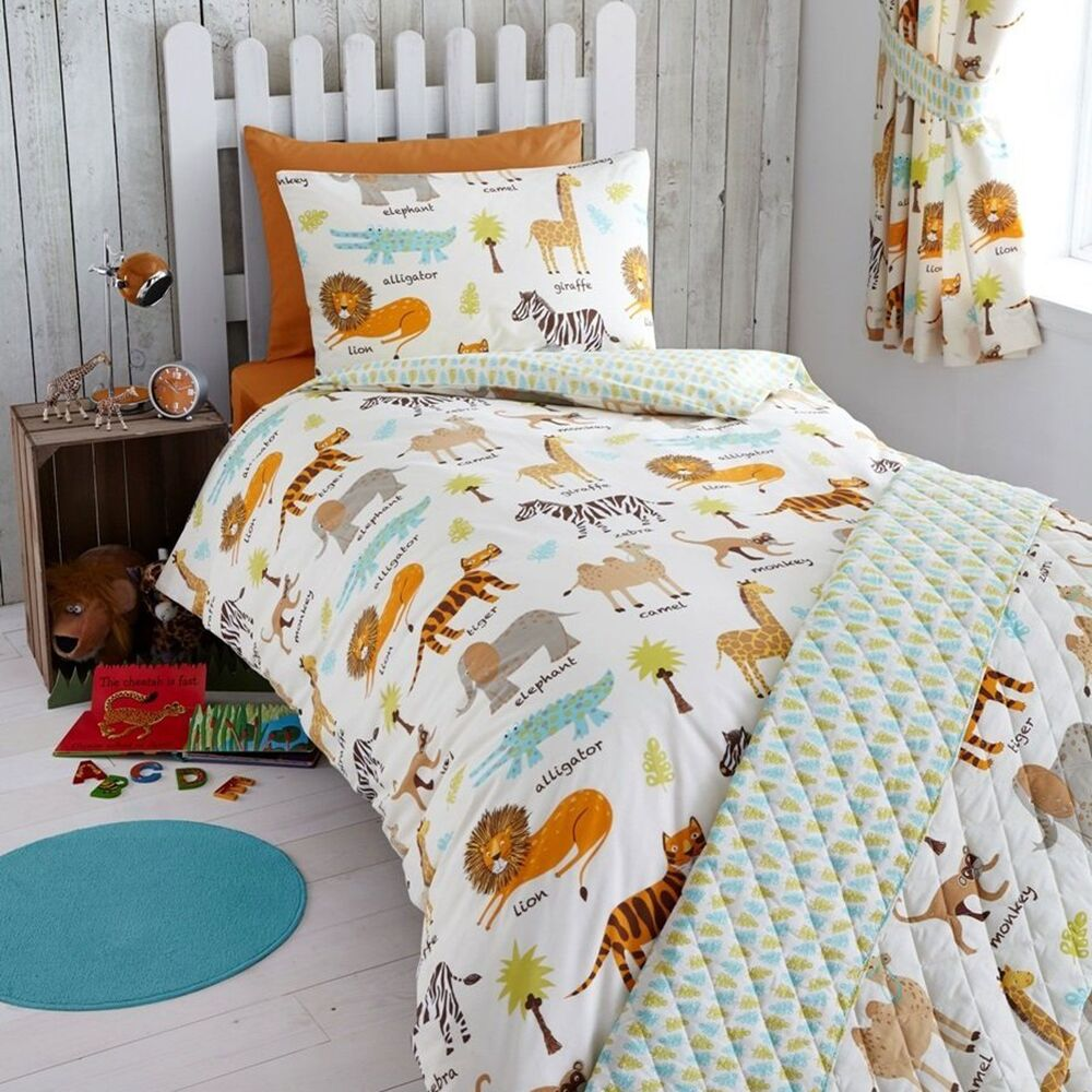 My Safari Animals Junior Toddler Bed Duvet Cover Set New