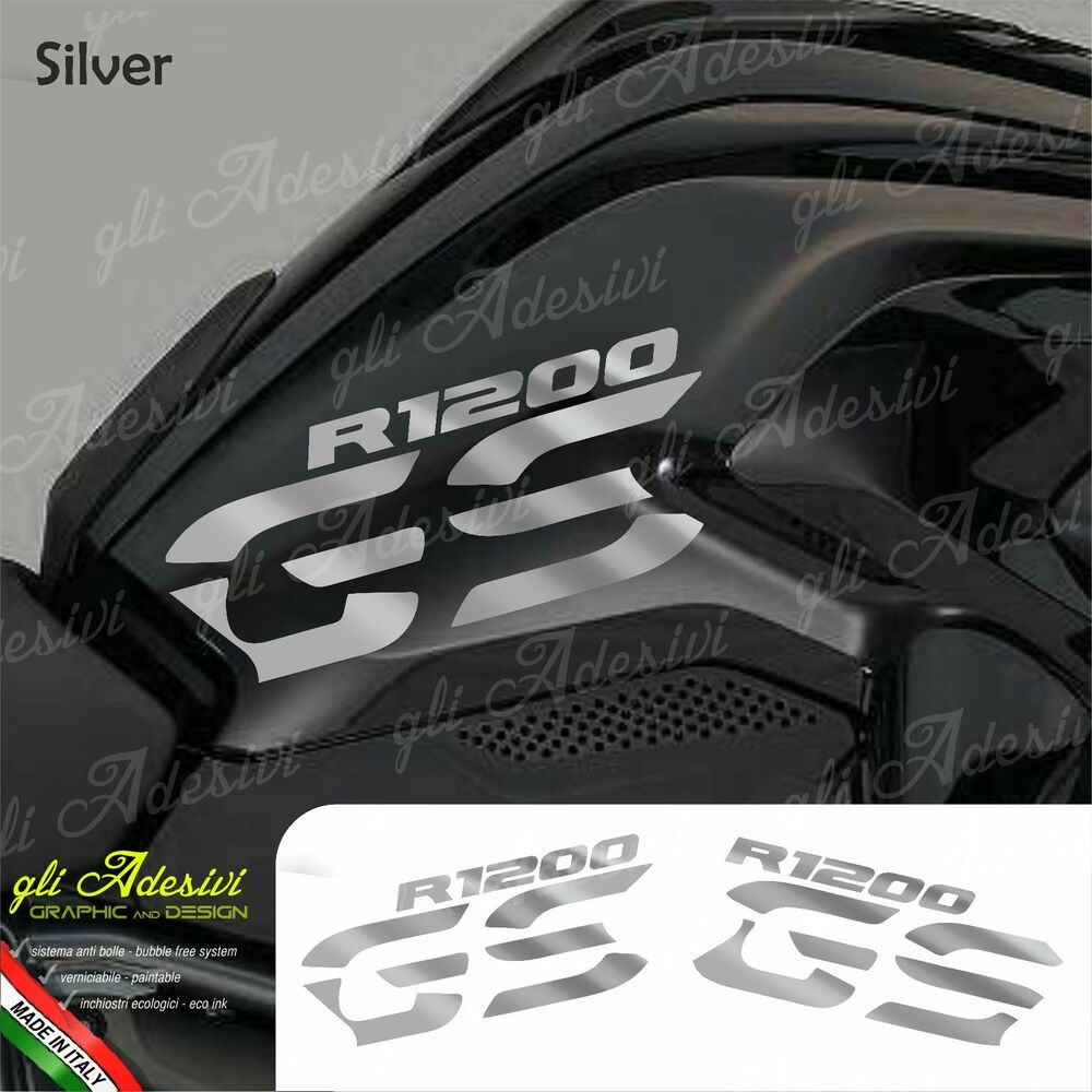 set adesivi fianco serbatoio moto bmw r 1200 gs lc silver. Black Bedroom Furniture Sets. Home Design Ideas
