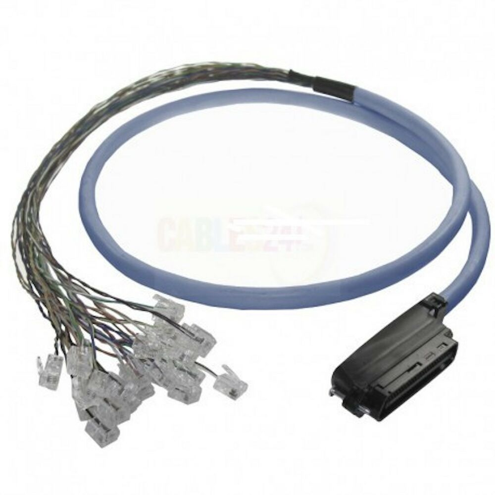 Amphenol Cat3 Rj21 Male Telco Breakout To 24 Rj11 Plugs