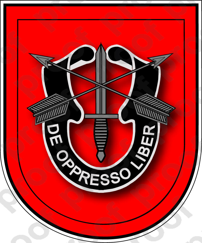 Sticker U S Army Flash 7th Special Forces Group Ebay