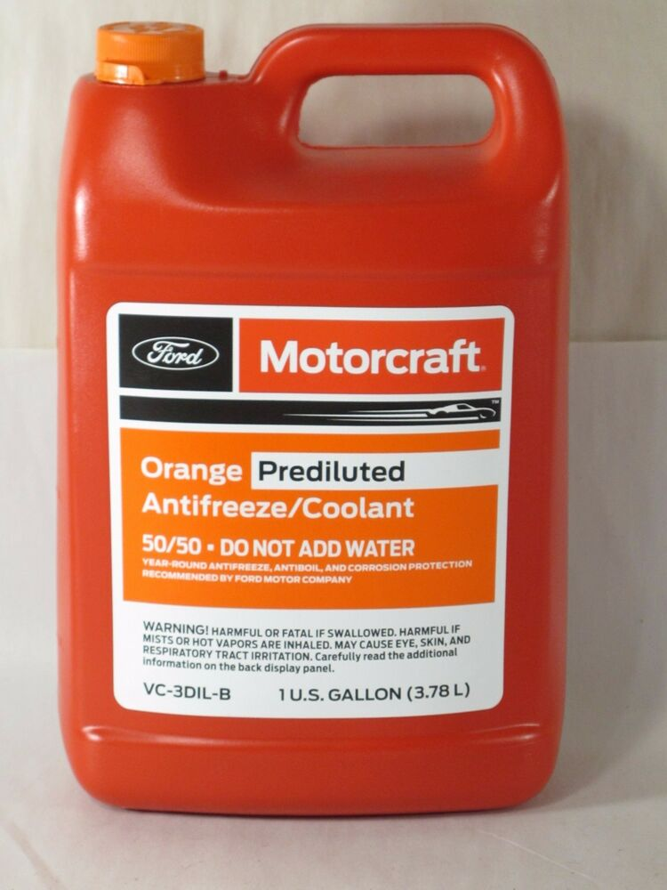 Motorcraft U00ae Orange Antifreeze  Coolant 1 Gal  Vc3dilb  50
