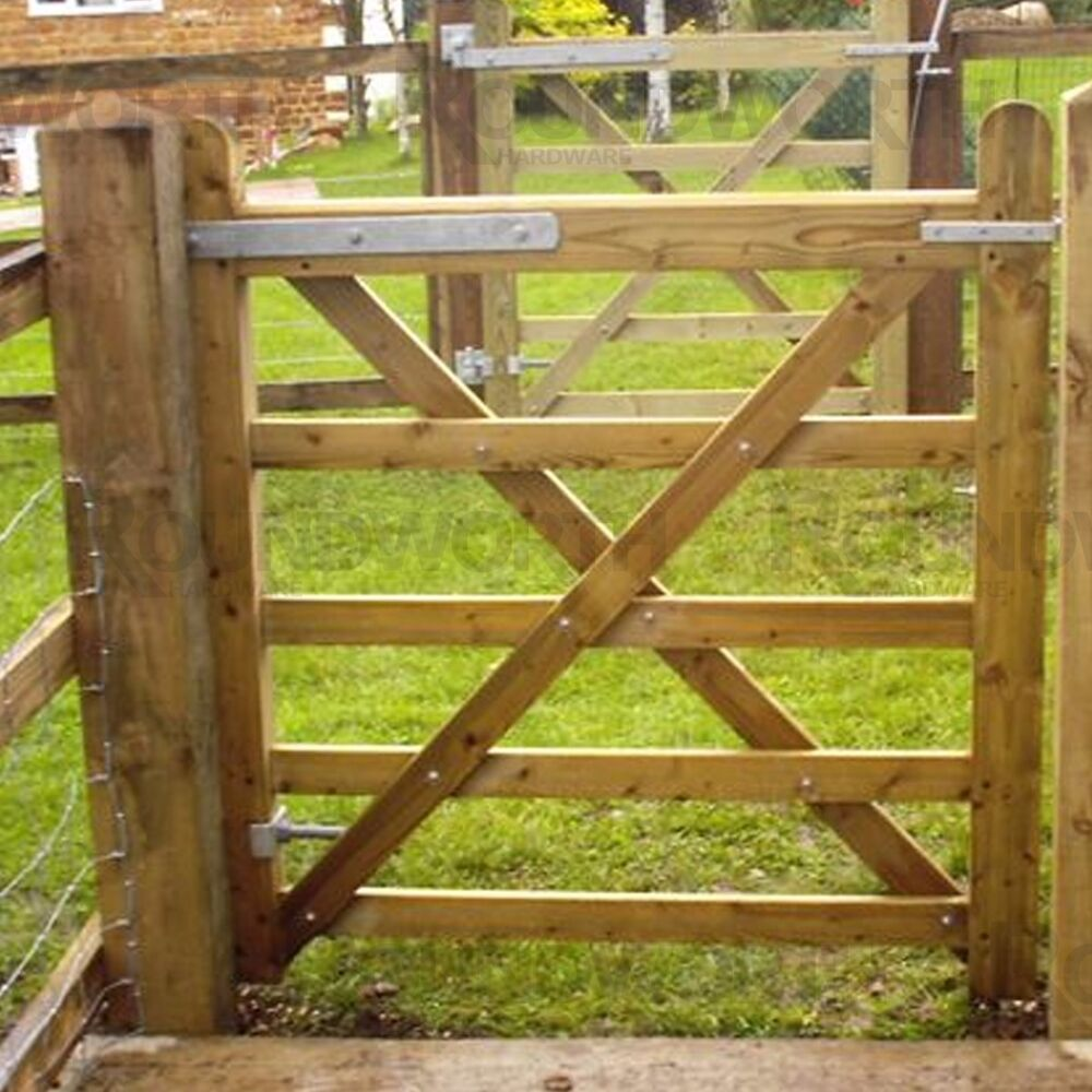 Heavy Duty Galvanised Double Strap Farm Gate Hinge Set