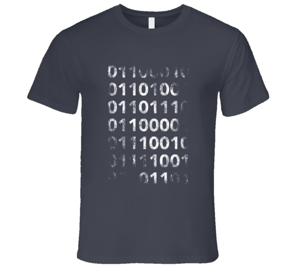 Details about Vintage Binary Tshirt Silicon Valley Funny Geek T-shirt HTML  code shirt