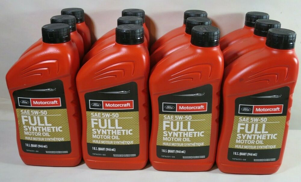 motorcraft xo 5w50 qgt sae 5w 50 full synthetic motor oil. Black Bedroom Furniture Sets. Home Design Ideas