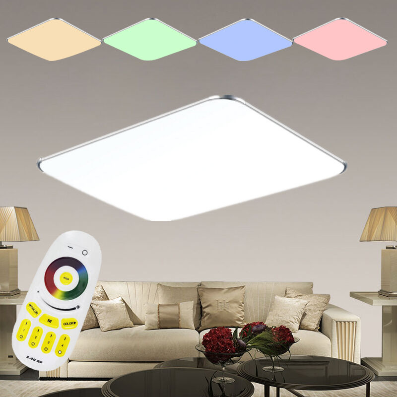 led deckenleuchte rgb dimmbar farbwechsel deckenlampe ultraslim wand panel lampe ebay. Black Bedroom Furniture Sets. Home Design Ideas