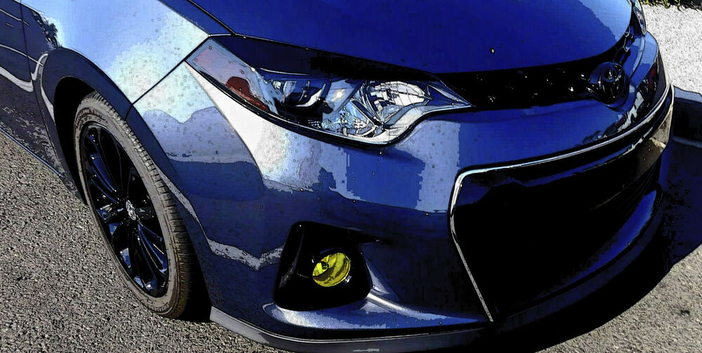 Details About 2017 2016 Toyota Corolla Yellow Overlay Tint For Fog Lights Jdm E170 Trd