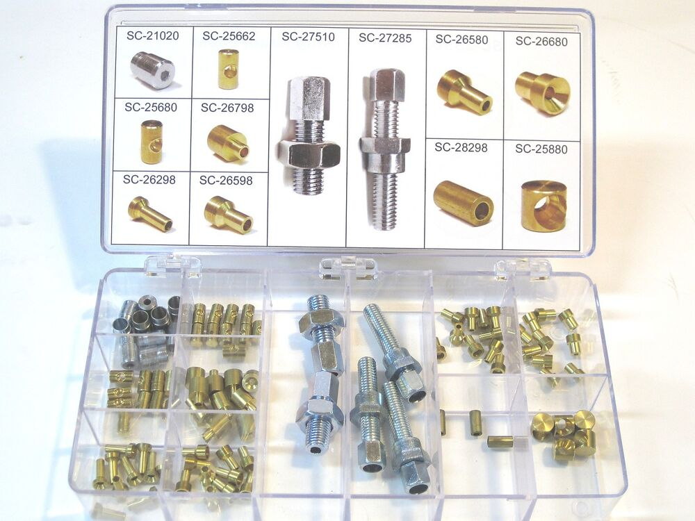 Throttle Cable Making Kit : Cable fitting assortment motorcycle clutch throttle brake