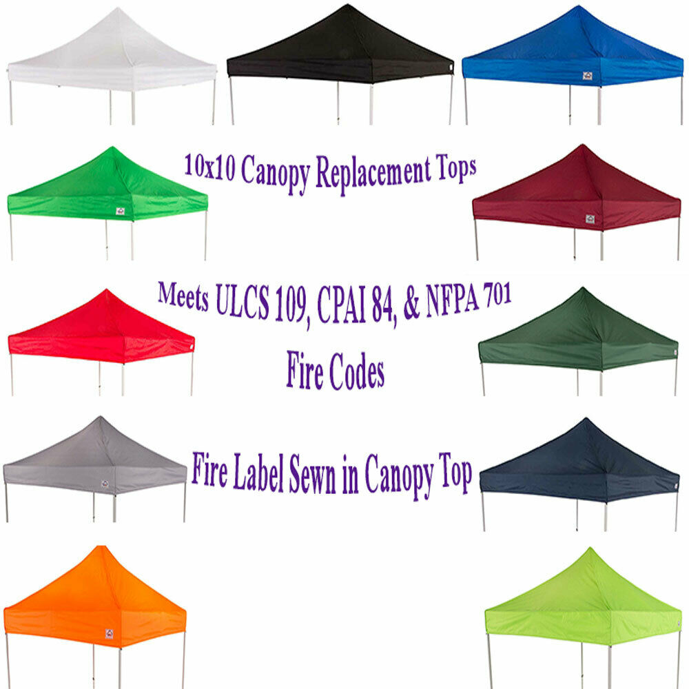 10'x10' Replacement Canopy Top Sunshade Gazebo fits EZ UP ...
