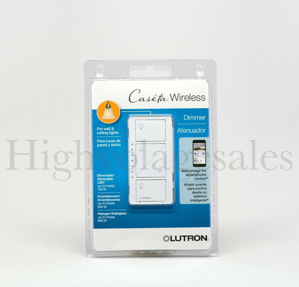 lutron pd 6wcl wh caseta wireless led cfl 600 150watt in wall dimmer 10 pack ebay. Black Bedroom Furniture Sets. Home Design Ideas