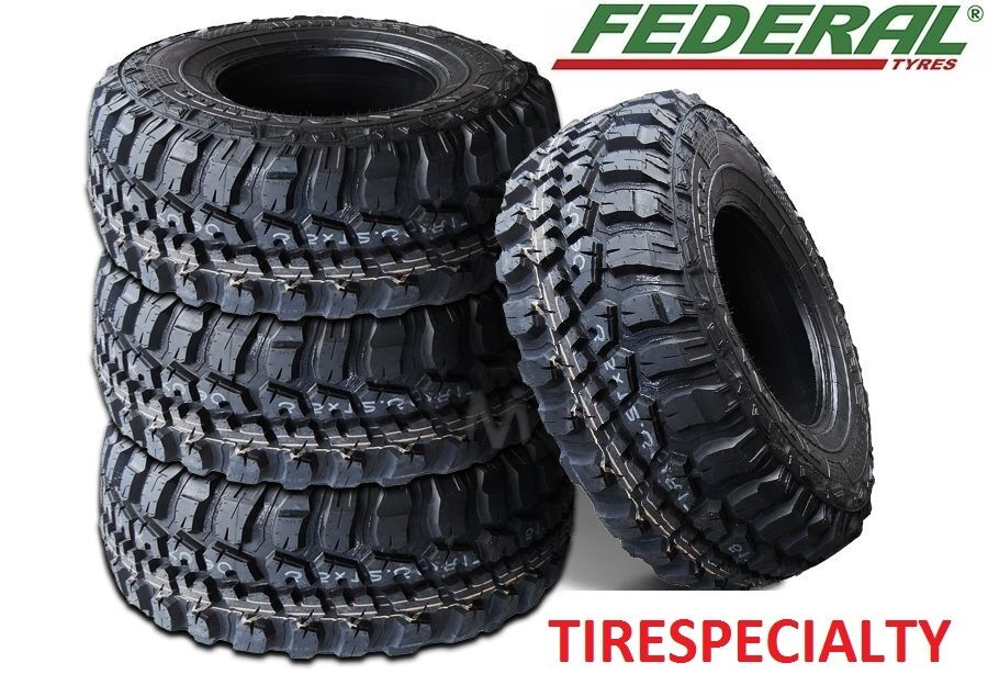 4 New Federal Couragia MT Tires 6 PLY 108Q LT 33X12.50R15