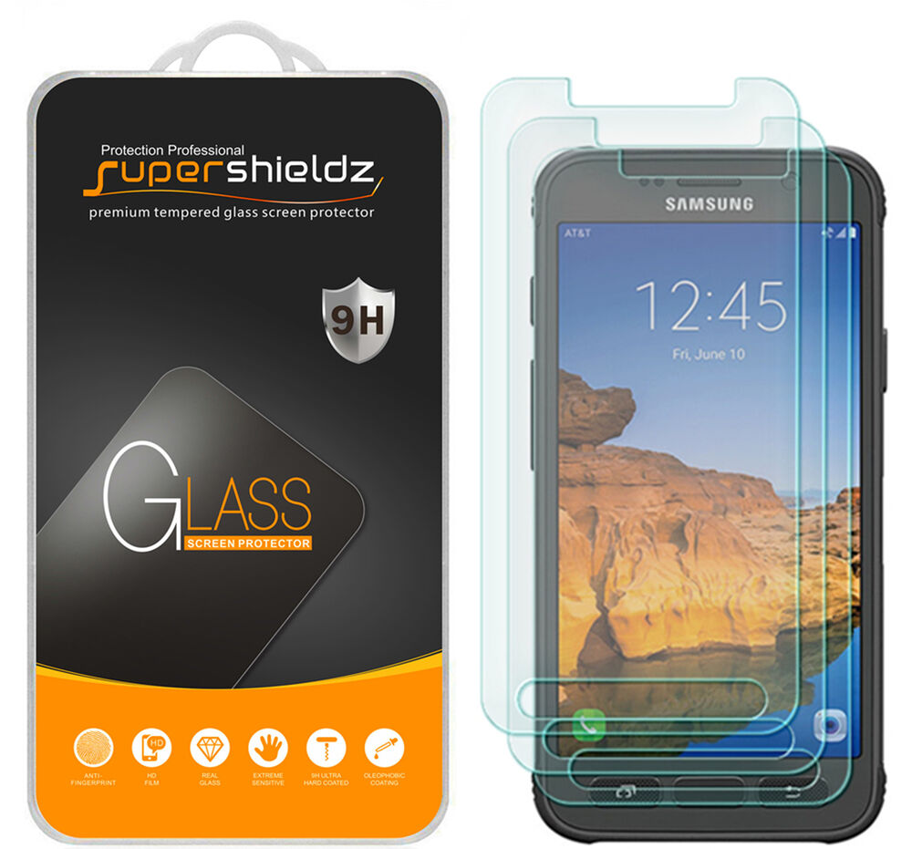 3x supershieldz samsung galaxy s7 active tempered glass. Black Bedroom Furniture Sets. Home Design Ideas