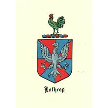 *Great Coat of Arms Lathrop Family Crest genealogy, would look great framed!