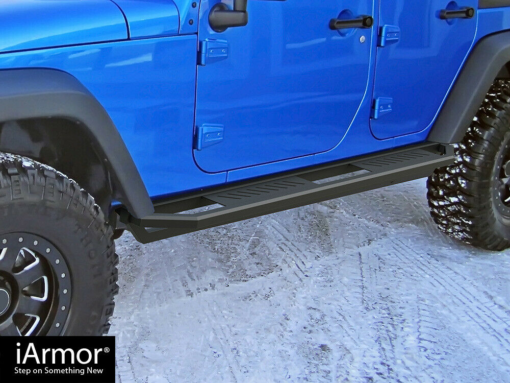 Iarmor Off Road Black Side Steps Armor For 07 17 Jeep