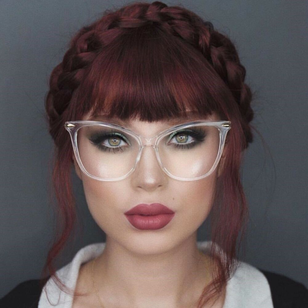 "Oversized Cat Eye "" Miss FEARLESS"" Thick Frame Women ..."