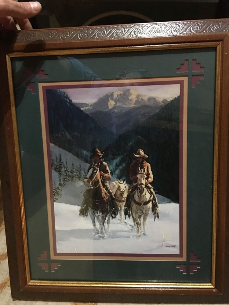 home interior cowboy pictures home interior amp gifts cowboys in snow picture gary 18223