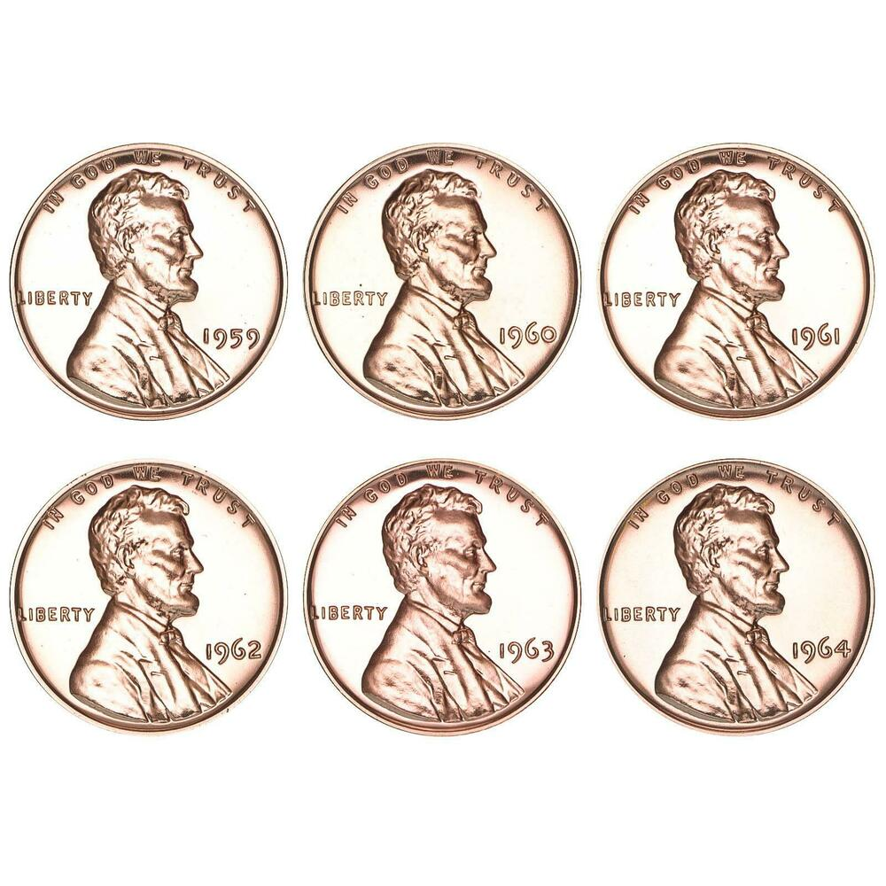 1961 to 1964 Lincoln Proof Lot