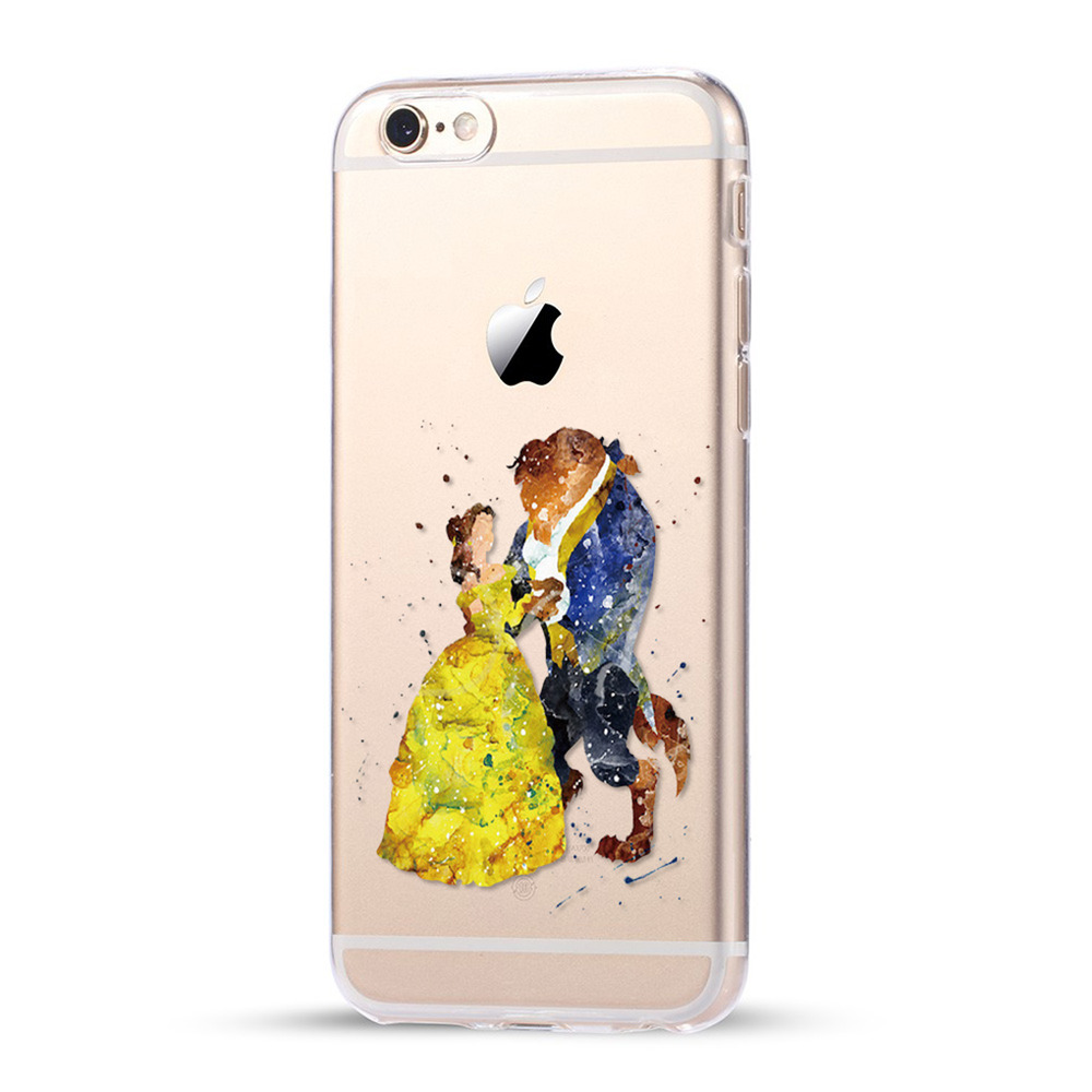 disney iphone cases disney and the beast transparent rugged hardshell 10506
