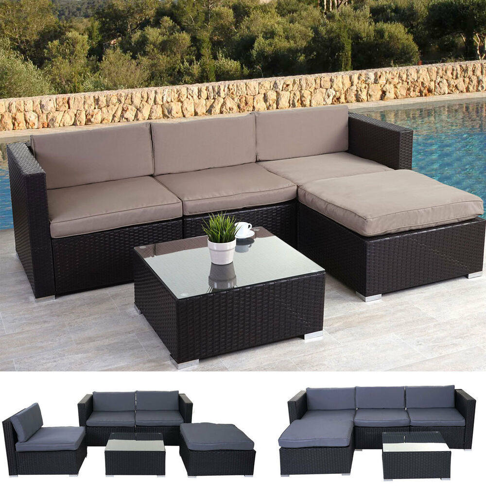 poly rattan garnitur brindisi gartengarnitur sitzgruppe lounge set ebay. Black Bedroom Furniture Sets. Home Design Ideas