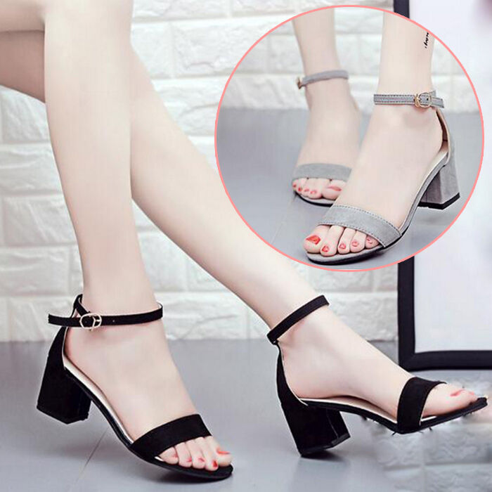 6f871afd3a9 Details about Formal Women Summer Chunky Heel Sandals Ankle Strap Open Toe  Beach Party Shoes