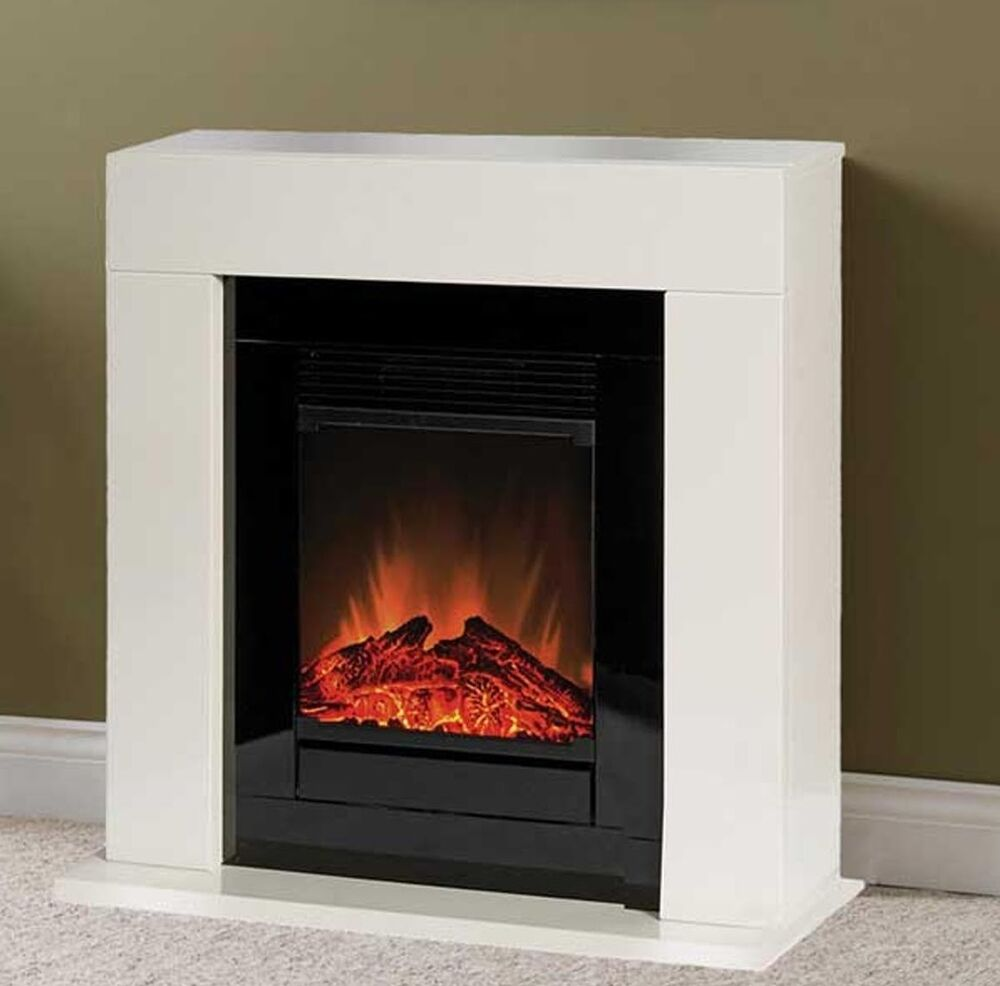 Dimplex Ventosa Electric Small Cream Freestanding Surround Fire Fireplace Suite Ebay