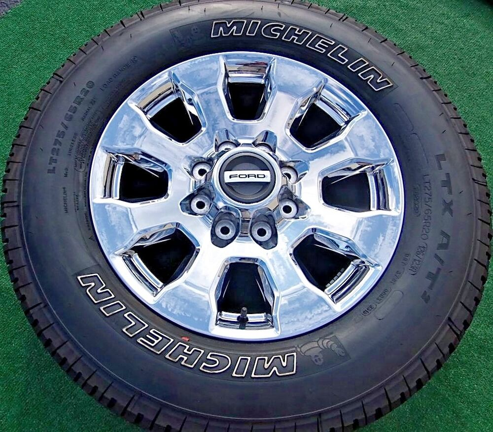 Truck Rims And Tire Packages >> Set NEW 2017 OEM Factory Ford F250SD PLATINUM 20 inch F 250 CHROME Wheels Tires | eBay