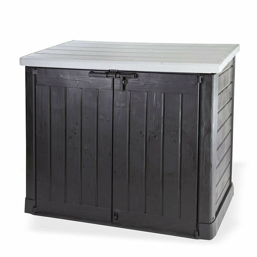 Keter store it out max xl grey lid plastic garden shed - Coffre jardin keter ...