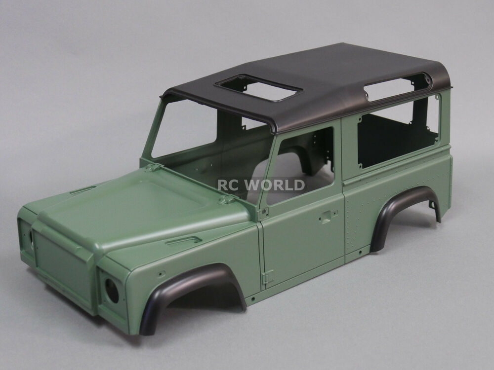 rc 1 10 scale truck hard body shell land rover defender 90 w interior painted ebay. Black Bedroom Furniture Sets. Home Design Ideas
