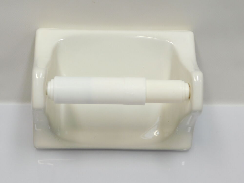 New Bone White Ceramic Toilet Paper Holder Porcelain Tile