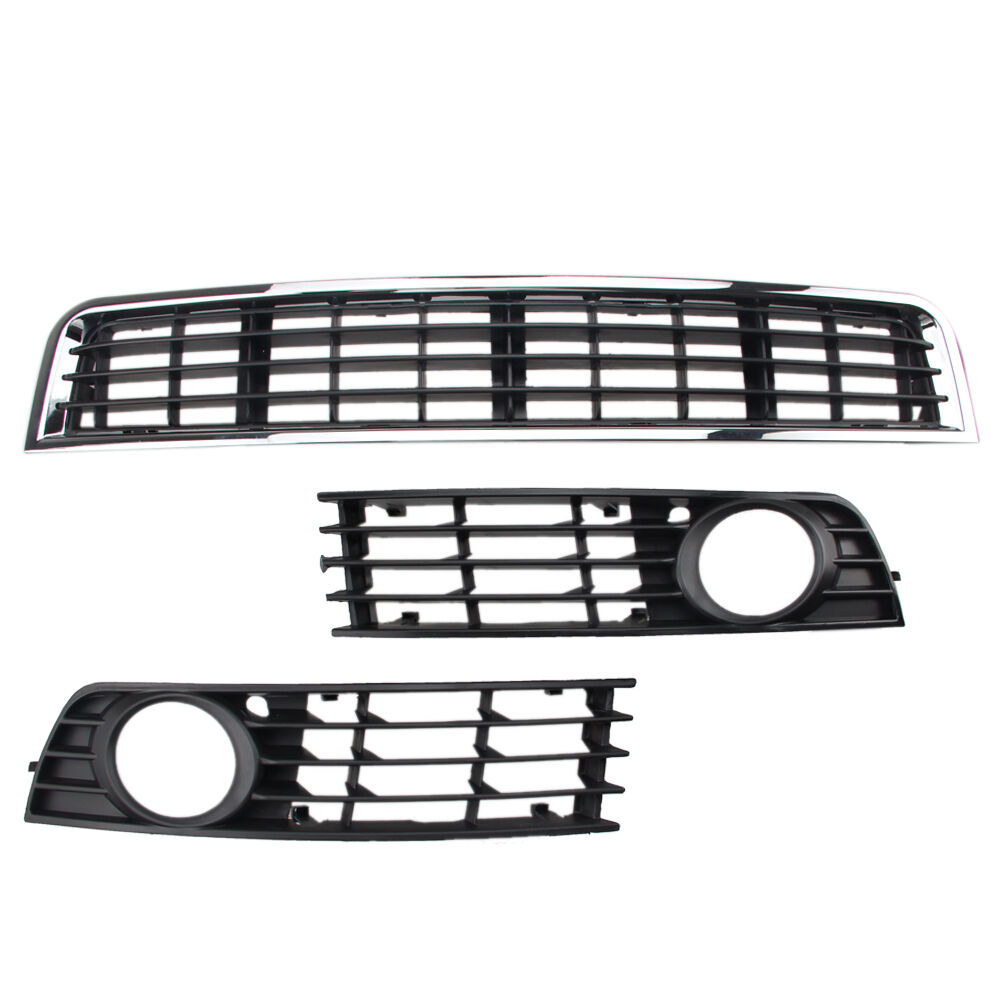 For 02 05 A4 B6 4dr Front Bumper Center Lower Grill Fog