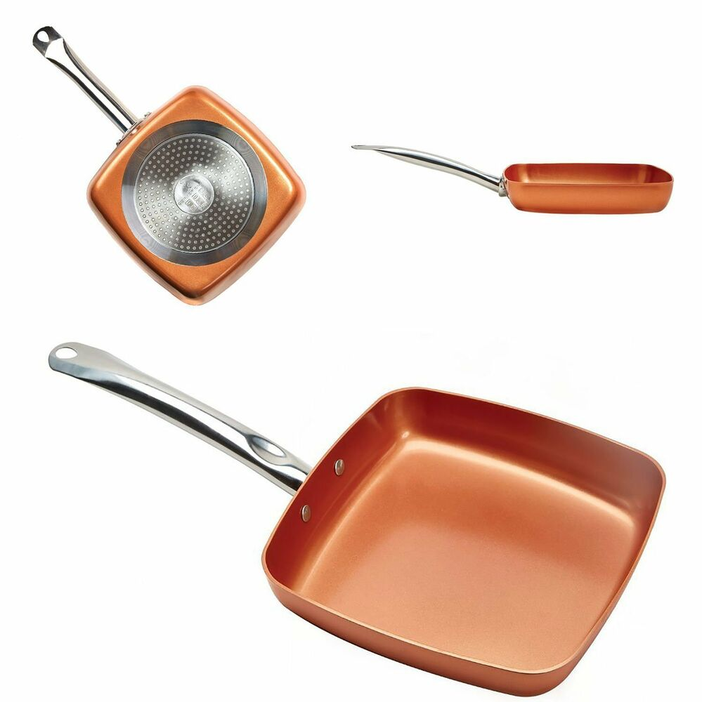 New Cooper Chef Square Fry Pan Cooking Pan Dishwasher Safe